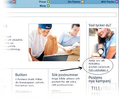 Example from posten.se